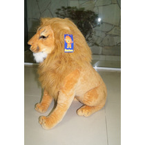 Safari Leão Grande De 74cm Pelucia A Pronta Entrega