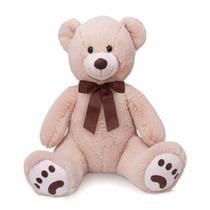 Urso Grande De Pelúcia Bruno Bege Buba Toys