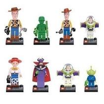 Bonecos Toy Story Tipo Lego 8 Bonecos Kit Completo Buzz Zur