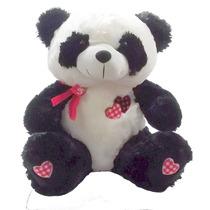 Urso Panda Coração Namorados Grande Bicho Pelucia