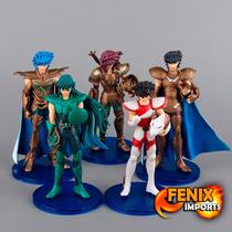 Bonecos Cavaleiros Do Zodiaco Saint Seiya 5 Peças Cdz Anime