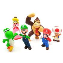 Super Mario Brothers - Set Original Bandai 6 Figuras - Lacr