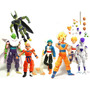 Kit C/ 7 Bonecos Dragon Ball Z Articulados - Goku Gohan Etc