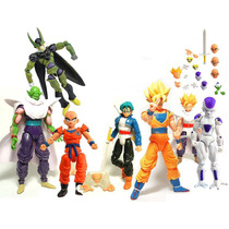 Kit C/ 7 Bonecos Dragon Ball Z Articulados - Goku Gohan Etc