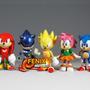 Coleção Sonic Miniaturas Sonic 6 Peças! Sonic Tails Knuckles