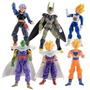 Kit Com 6 Bonecos Dragon Ball Z Kai Dbz Goku Vegeta Gohan.