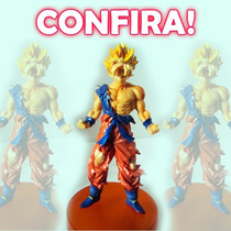 Bonecos Dragon Ball Goku Frezza Super Mario Naruto Blanch