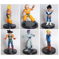 Kit 6 Bonecos Dragon Ball Z Kuririn Friza Goku Super Saiyan