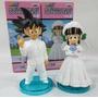 Kit Com 2 Bonecos Dragon Ball Figures Goku Casamento Wedding