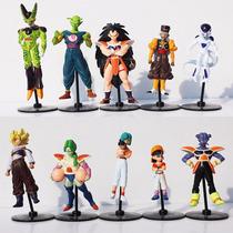 10 Bonecos Mini Dragon Ball Action Figures Goku Especial Ed
