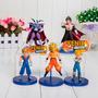 Bonecos Dragon Ball Z Coleção 5 Bonecos Goku Dbz Vegeta