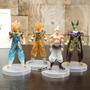 Kit 4 Bonecos Dragon Ball Cell Majin Buu Goku Anime Manga