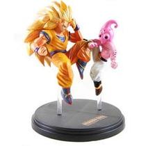 Boneco Dragon Ball- Gashapon- Goku Ssj 3 Vs Evil Boo