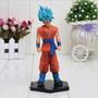 Boneco Dragon Ball Dbz Goku Deus Ssj - 17cm - Sob Encomenda