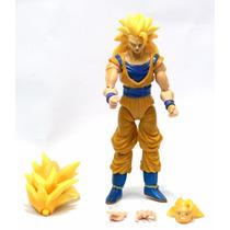 Boneco Dragon Ball Super Sayajim 3 Son Goku 14cm Articulado