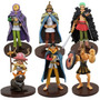 Kit Com 6 Figures Bonecos One Piece Luffy Zoro Usopp Chopper