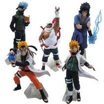 Kit 5 Bonecos Naruto Sasuke Itachi Killer Bee Minato Figures