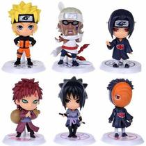 Lk+ Miniaturas Naruto - Kit Com 6 Bonecos