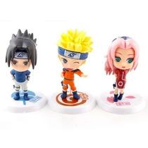 Kit 6 Bonecos Naruto Sasuke Sakura Kakashi Zabuza Haku