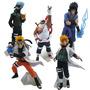 5 Bonecos Naruto Sasuke Itachi Killer Bee Minato + Suporte