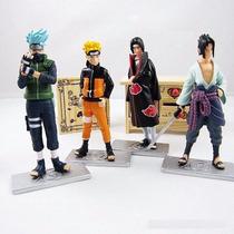Kit 4 Bonecos Action Figure Naruto Importado Direto