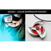 Colar Hatake Kakashi Itachi Sharingan Anime Naruto Cosplay