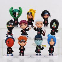 Kit 11 Mini Estátuas Akatsuki - Naruto Frete Grátis