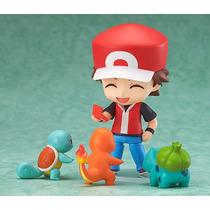 Pokemon Nendoroid Treinador Red Tcharmander Bulbasaur Squirt
