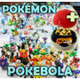 Kit Pokemons 20 Miniaturas + Pokebola Poke Pokemon + Brinde