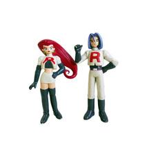 Coleção Bonecos Pokémon Jessie E James Equipe Rocket Tommy