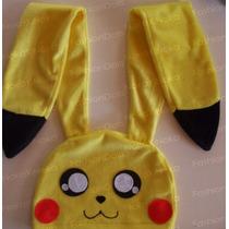 Touca De Anime * Pikachu C/orelhas Gigantes *frete + Barato