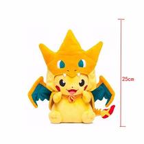 Pelúcia Pokemon Pikachu Vestido De Charizard! Megatokyo!
