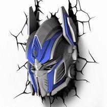 Luminária Transformers 3d Deco Light Optimus Prime