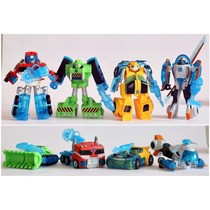 4 Transformers Rescue Bots Bumblebee Blades Boulder Optimus