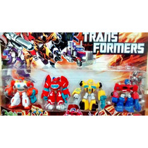 Kit Com 4 Transformers Rescue Bots Bumblebee Blades Optimus