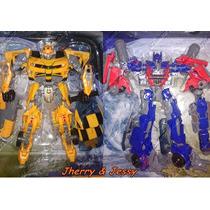 Kit 2 Bonecos Transformers Optimus Prime E Bumblebee Promoçã