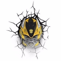 Luminária Transformers 3d Deco Light Bumblebee