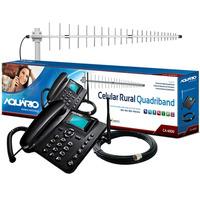 Kit Celular Rural Aquário 1 Chip + Antena Desbloqueada +cabo