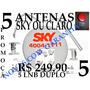 Antenas Banda Ku 60 Lnb Duplo Kit Com 5 Antenas Só 249 ,90