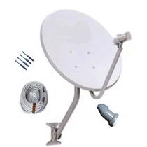 Antena Banda Ku 60cm Com Lnb Simples Universal