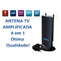 Antena Digital Amplificada Interna Vhf Uhf Hdtv Fm Dtv4600