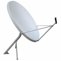 Antena 90cm Banda Ku+lnbf Universal+20m Cabo+ Kit Instal