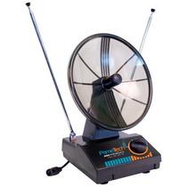 Antena Interna Mini-parabólica 4em1 Digital, Uhf, Vhf E Fm