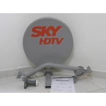 Antena 60cm Lnb Duplo Cabo(20mt) E Kit Fixação.instalação.