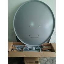 Antena 90cm Banda Ku+lnb Simples+20m Cabo+ Kit Fixação
