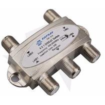 Chave Diseqc 4x1 + 3x Conector Rg6 Pronta Entrega