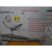 Antena Externa Hdtv Digital Superdigi Amplificada Da-618gm