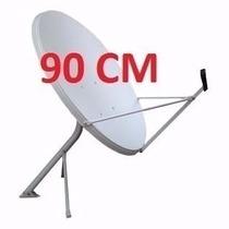 Antena Parabólica Banda Ku 90 Cm Com Logo Gvt - R$ 148