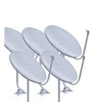Kit 5 Antenas Banda Ku 60cm+lnbf Simples E 100 Mt Cabo