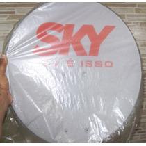 Antena Sky 45 Cm + Kit De Instalação S/ Cabos - Nova